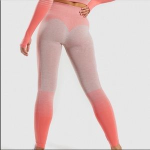 Gymshark Amplify Seamless Leggings Peach Coral